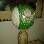 Bola de Futebol Time Mosaico Decorativa