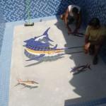 Colocação de Mosaico para Piscina Marlim