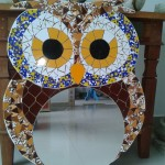 Espelho com Mosaico Coruja