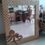 Espelho com Mosaico Polvo