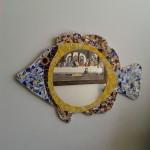 Espelho de Mosaico Peixe