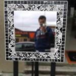 Espelho quadrado de Mosaico