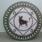 Mandala em Mosaico Signo Touro para Piso e Parede