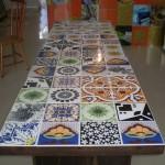 Mesa de Azulejos Decorados