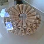 Mesa de Cones com Tampo de Vidro