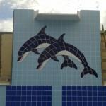 Mosaico para Piscina Golfinhos