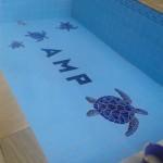 Mosaico para Piscina Tartarugas Azuis