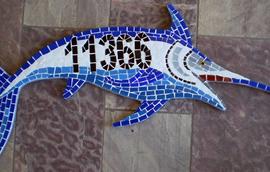 Números em mosaico para residências Marlim