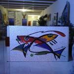 Painel de Mosaico Abstrato
