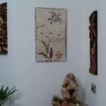 Painel de Mosaico em Ambiente de Paisagismo