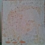 Painel de Mosaico Girafa