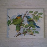 Painel de Mosaico Pássaros Sairás