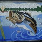 Painel de Mosaico Peixe Tucunaré
