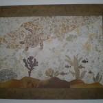 Painel de Mosaico Tartaruga com Moldura