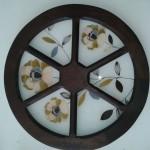 Pintura em Vidro com Madeira