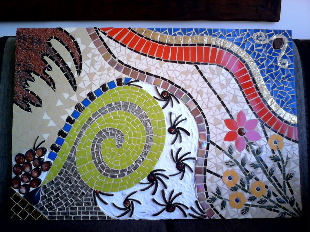 Muitas vezes Quadros em Mosaico com efeito 3D com moldura de madeira. JZ24
