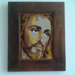 Quadro em Mosaico Jesus Cristo