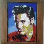 Quadro em Mosaico Elvis Presley