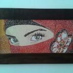 Quadro em Mosaico Olhos Penetrantes
