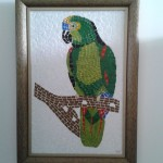 Quadro em Mosaico Papagaio