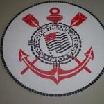 Tampo de Mesa com Mosaico Time Corinthians