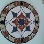 Tampo de Mesa em Mosaico Mandala