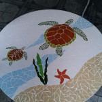Tampo de Mesa em Mosaico Tartaruga