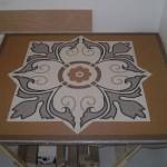 Tapete feito com Mosaico