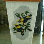 Vaso com Mosaico Pássaros